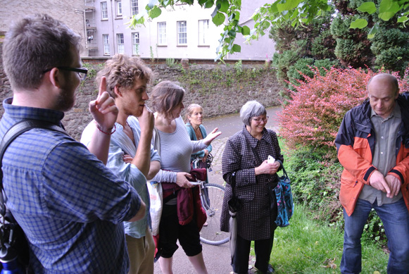 Herb Walk participants (Stephen, Thomas, Fiona, Helen, Rose) and our guide, Max Drake from The Urban Fringe Dispensary