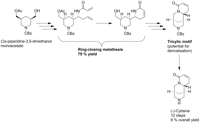 Synthesis of (-)-cytisine