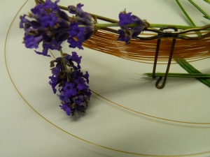 Lavender and a gas chromatography column