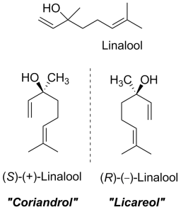 Enantiomers of linalool