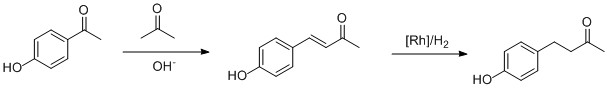 Scheme 2: A possible synthetic route to produce raspberry ketone (see text for details)