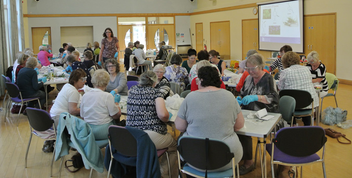 First busy workshop with 50 participants for Gloucestershire Federation