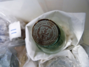 An example of a carefully labelled and embossed bottle cork.