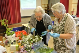 Selecting plant samples for scent extraction in Warwickshire