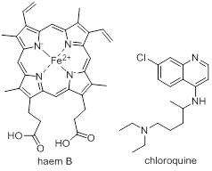 haem B and chloroquine