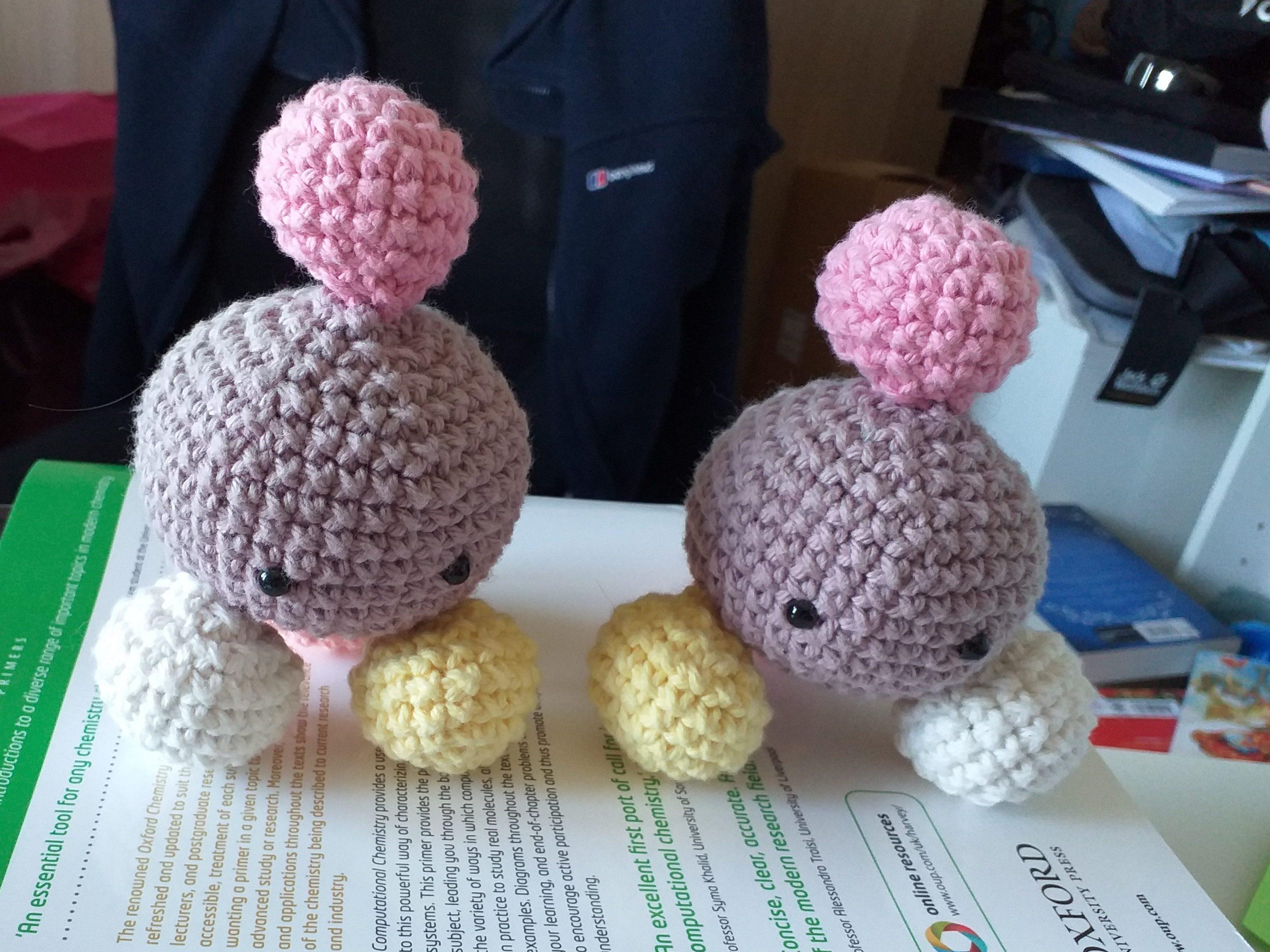 photo of crochet molecules