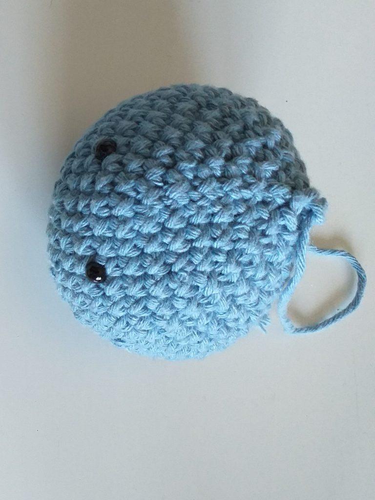 Large crochet sphere.