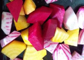 Photo of chopped beetroot.